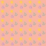 Καλόγουστο ναυτικό σχέδιο ταπετσαριών Στοκ Εικόνες