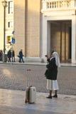 Καλόγρια σε Βατικανό στοκ εικόνες με δικαίωμα ελεύθερης χρήσης