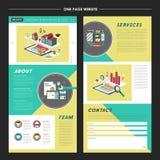 Καλός σχέδιο προτύπων ιστοχώρου σελίδων ελεύθερη απεικόνιση δικαιώματος