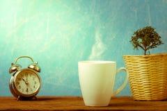 Καλός χρόνος του καφέ για την υγεία Στοκ Εικόνα