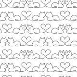 Καλό άνευ ραφής σχέδιο γατών Στοκ Εικόνες
