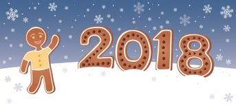 Καλό έτος 2018 Στοκ Φωτογραφία