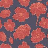 Καλό εκλεκτής ποιότητας floral σχέδιο με marigold Στοκ Εικόνες
