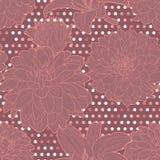 Καλό ζωηρόχρωμο ιώδες άνευ ραφής σχέδιο κρίνος-αστέρων ελεύθερη απεικόνιση δικαιώματος