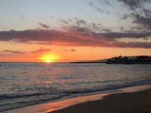 Καλό ηλιοβασίλεμα νησιών Στοκ Φωτογραφία
