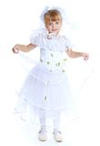 Καλό κορίτσι στο άσπρο φόρεμα Στοκ Εικόνες
