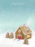 Καλό σπίτι μελοψωμάτων Χριστουγέννων Στοκ Εικόνα