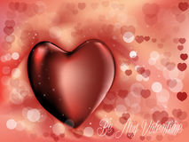 Καλό υπόβαθρο βαλεντίνων με την καρδιά Στοκ εικόνα με δικαίωμα ελεύθερης χρήσης