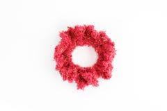 Καλό χειροποίητο κόκκινο headband που γίνεται από το μαλλί Στοκ εικόνα με δικαίωμα ελεύθερης χρήσης