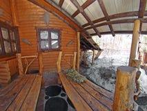 καλύβα ξύλινη Στοκ Εικόνα