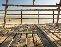 καλύβα παραλιών ξύλινη Στοκ Φωτογραφίες