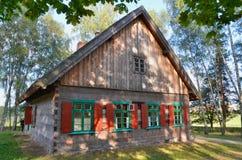 Καλύβα στο υπαίθριο μουσείο σε Olsztynek (Πολωνία) Στοκ Εικόνες
