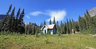 Καλύβα του Brian Waddington γνωστή επίσης ως καλύβα Phelix στον Καναδά Στοκ εικόνες με δικαίωμα ελεύθερης χρήσης