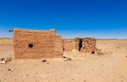 Καλύβα Berber στην έρημο Σαχάρας Στοκ φωτογραφία με δικαίωμα ελεύθερης χρήσης