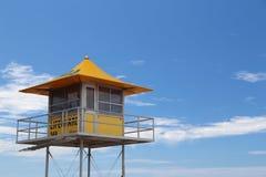 Καλύβα Lifeguard στο Gold Coast Στοκ Εικόνες