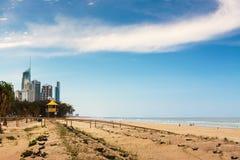 Καλύβα Lifeguard στο Gold Coast στοκ φωτογραφίες