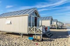 Καλύβες παραλιών διακοπών Στοκ εικόνες με δικαίωμα ελεύθερης χρήσης