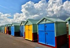 Καλύβες σε μια σειρά brillo UK στοκ φωτογραφίες με δικαίωμα ελεύθερης χρήσης