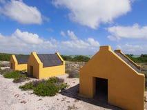 Καλύβες σκλάβων σε Bonaire Στοκ εικόνες με δικαίωμα ελεύθερης χρήσης