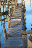 Καλύβες ψαράδων στις λιμνοθάλασσες Στοκ Φωτογραφίες