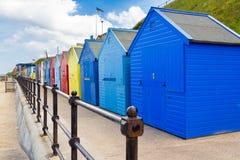 Καλύβες Norfolk Αγγλία παραλιών Mundesley Στοκ φωτογραφίες με δικαίωμα ελεύθερης χρήσης