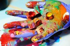 Καλύμματα για το χρώμα μελανιού δερματοστιξιών σε ετοιμότητα Στοκ φωτογραφία με δικαίωμα ελεύθερης χρήσης