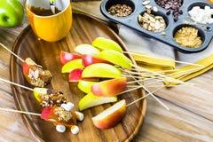 Καλύμματα μήλων καραμέλας Στοκ Εικόνα