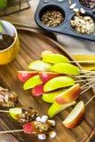 Καλύμματα μήλων καραμέλας Στοκ εικόνα με δικαίωμα ελεύθερης χρήσης