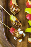 Καλύμματα μήλων καραμέλας Στοκ Εικόνες