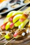Καλύμματα μήλων καραμέλας Στοκ φωτογραφία με δικαίωμα ελεύθερης χρήσης