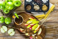 Καλύμματα μήλων καραμέλας Στοκ εικόνες με δικαίωμα ελεύθερης χρήσης
