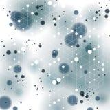 καλύπτοντας, περίπλοκο op τέχνης υπόβαθρο τρισδιάστατου χωρικού δικτυωτού πλέγματος με smudge τα σημεία και τις γεωμετρικές μορφέ Στοκ φωτογραφία με δικαίωμα ελεύθερης χρήσης