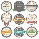 Καλύτερα διανυσματικά εκλεκτής ποιότητας διακριτικά ποιότητας επιλογής, εγγύησης και εξαιρετικοου Στοκ Φωτογραφίες