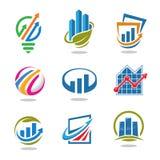 Καλύτερα ιδέα μάρκετινγκ και σύνολο λογότυπων χρηματοδότησης Στοκ εικόνες με δικαίωμα ελεύθερης χρήσης