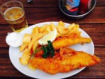 Καλύτερα ψάρια και τσιπ πάντα Στοκ Φωτογραφία