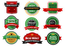 Καλύτερες επίπεδες ετικέτες προϊόντων προσφοράς και ποιότητας Στοκ Φωτογραφία
