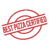 Καλύτερη επικυρωμένη πίτσα σφραγίδα Στοκ εικόνες με δικαίωμα ελεύθερης χρήσης