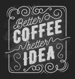 Καλύτερη καλύτερη ιδέα καφέ τυπογραφία αποσπάσματος καφέ διανυσματική απεικόνιση