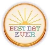 Καλύτερη κεντητική βελονιών ημέρας πάντα διαγώνια, ράβοντας στεφάνη Στοκ φωτογραφίες με δικαίωμα ελεύθερης χρήσης
