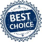 Καλύτερη μπλε σφραγίδα επιλογής Στοκ φωτογραφία με δικαίωμα ελεύθερης χρήσης
