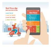 Καλύτερη πίτσα app Στοκ φωτογραφία με δικαίωμα ελεύθερης χρήσης