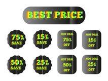 Καλύτερη πράσινη πυράκτωση τιμών Στοκ Εικόνα