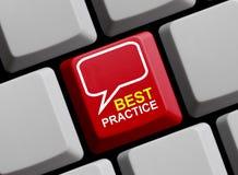 Καλύτερη πρακτική on-line στοκ εικόνες