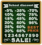 Καλύτερη τιμή πώλησης για τους σπουδαστές σε μια σχολική κιμωλία Στοκ φωτογραφία με δικαίωμα ελεύθερης χρήσης