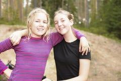 Καλύτεροι φίλοι κοριτσιών για πάντα Στοκ Εικόνες