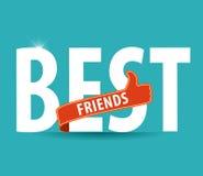 Καλύτεροι φίλοι, τυπογραφία απεικόνισης στο φωτεινό υπόβαθρο Στοκ φωτογραφία με δικαίωμα ελεύθερης χρήσης