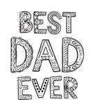 Καλύτερος μπαμπάς πάντα Στοκ Εικόνες