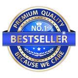 Καλύτερος πωλητής, εξαιρετική ποιότητα, επειδή φροντίζουμε - πολυτελές εικονίδιο Στοκ φωτογραφία με δικαίωμα ελεύθερης χρήσης