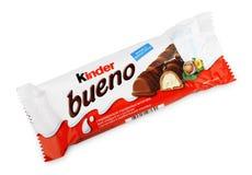 Καλύτερος φραγμός καραμελών σοκολάτας Bueno στοκ εικόνα