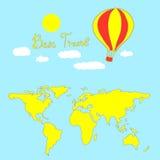 Καλύτερος χάρτης ταξιδιού, θεϊκό υπόβαθρο Απεικόνιση αποθεμάτων
